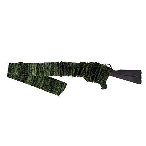 GUGULUZA Funda Tipo Calcetín para Rifle o Escopeta,136 cm Funda Tejida Tratada con Aceite de Silicona Rifle Sock (Verde Fluorescente)