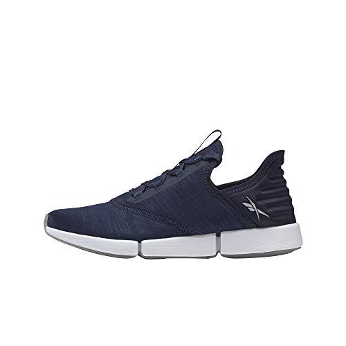 Reebok Women's DailyFit Walking Shoe, Vector Navy/White/Silver Metallic, 11