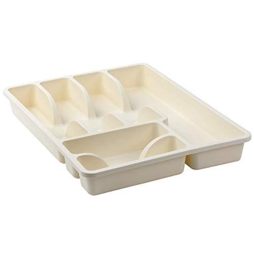 Bandeja para cubiertos con 6 compartimentos, de plástico, sin BPA