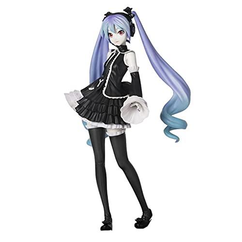 Figura de Anime Hatsune Figura Goth Goth Figuras de acción 16Cm Juguetes de Dibujos Animados Adornos Colletible PVC Modelo Juguetes