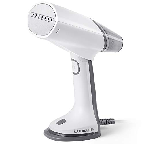 NATURALIFE 1000-Watt Foldable Handheld Steamer for Clothes Dual Voltage for Worldwide Travel,Grey