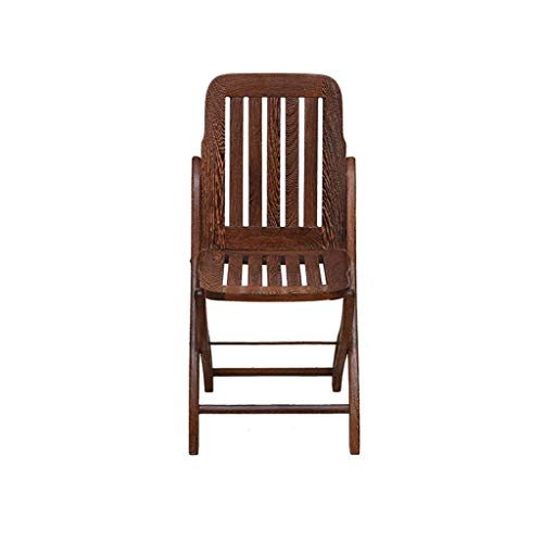 WTT Tragbarer brauner afrikanischer hölzerner Klappstuhl, atmungsaktives Kissen-beiläufiger Hauptrückenlehnen-Stuhl, Rutschfester beständiger und haltbarer hochintensiver Speisetisch-Stuhl