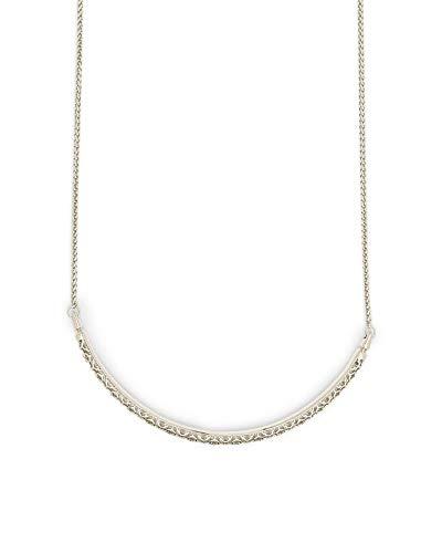 Kendra Scott Goldie Filigree Choker Necklace for Women, Fashion Jewelry, Filigree, Rhodium-Plated