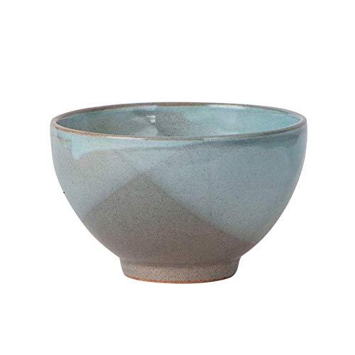 Soperas de cereales cuencos Ensaladera de cerámica hecha a mano Cuenco Textura Mate proceso complejo multifuncional de alta temperatura de la resistencia fácil de limpiar, 5 estilos (Color: B, Tamaño: