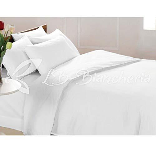 R.P. Juego de funda nórdica no planchado, color liso, tratamiento mano melocotón, 2 plazas, cama de matrimonio, color blanco