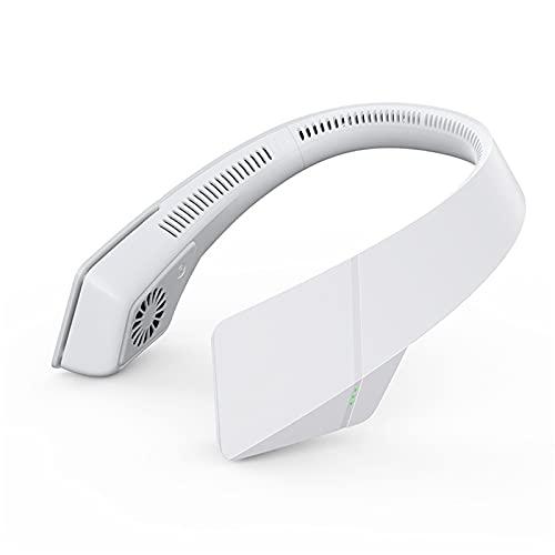 Tragbarer Ventilator,Wiederaufladbar Nackenventilator Mit Bügel für Den Nacken Hängender Halsventilator, tragbarer Ventilator, USB-Ladeventilator, mit Universal-Schwenkschlauch