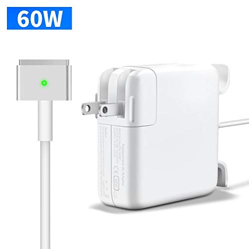 Compatible 60W Replacement Mac-Book Pro Charger, T-Tip Magsafe 2 Replacement Power Adapter Compatible with Mac Book Pro & Mac Book Air 11-Inch / 13-Inch
