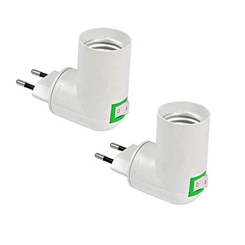 porta lampada con presa Portalampada E27 con Interruttore senza Cavo per Lampadina LED