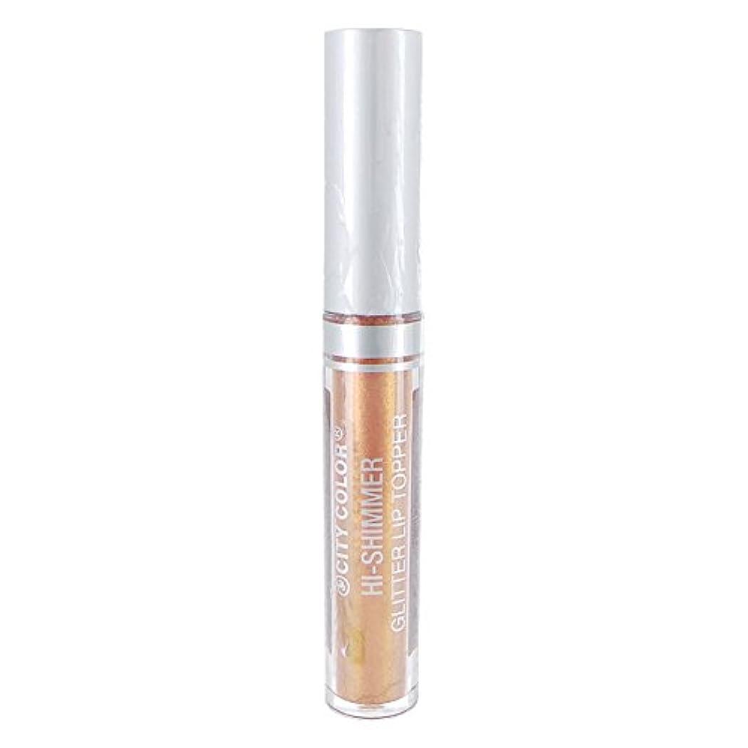 変色する地理セージ(3 Pack) CITY COLOR Hi-Shimmer Glitter Lip Topper - Rose Gold (並行輸入品)