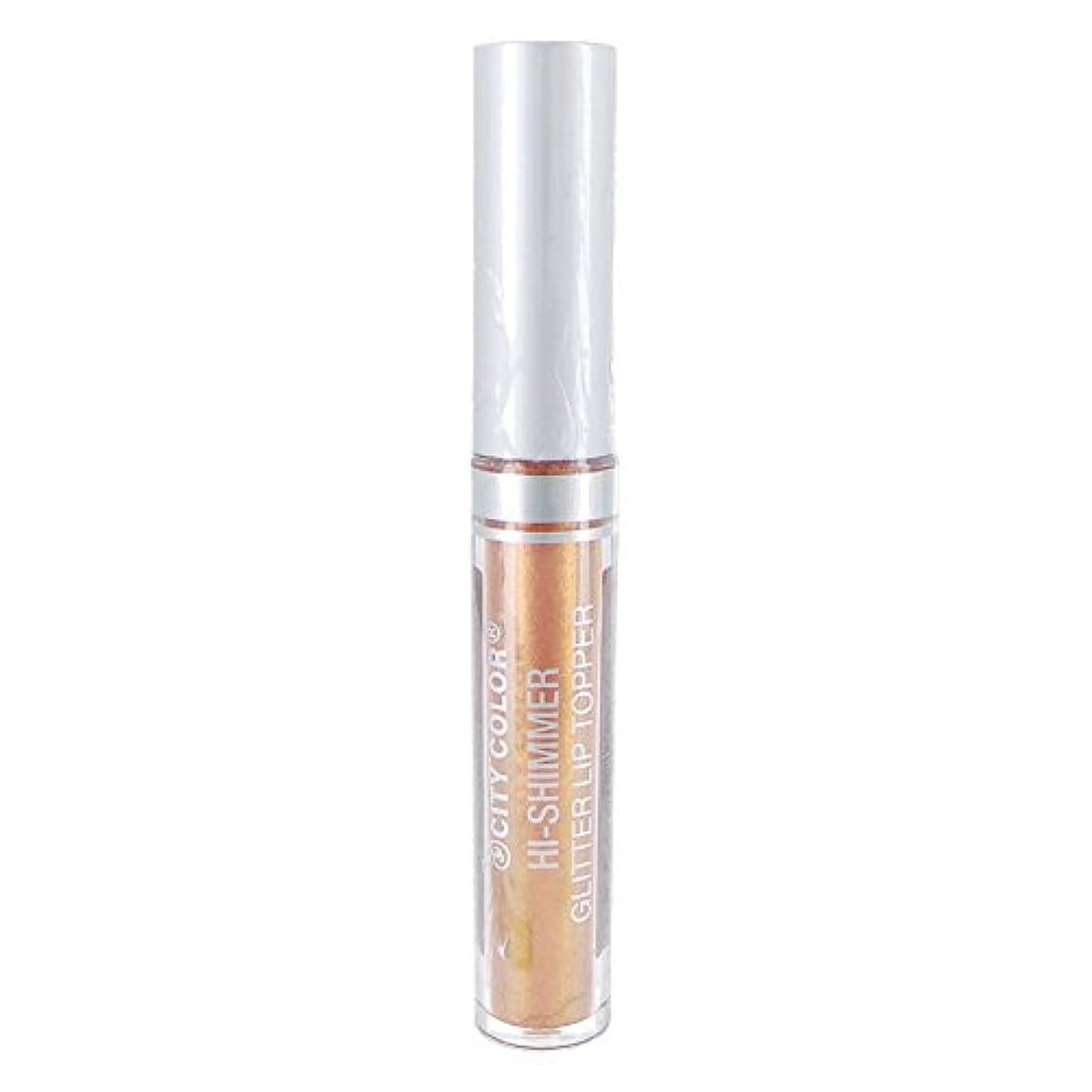 ここに記念日に同意する(3 Pack) CITY COLOR Hi-Shimmer Glitter Lip Topper - Rose Gold (並行輸入品)