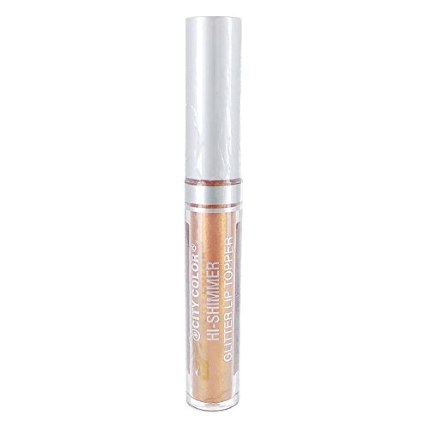 革新舌なサリーCITY COLOR Hi-Shimmer Glitter Lip Topper - Rose Gold (並行輸入品)