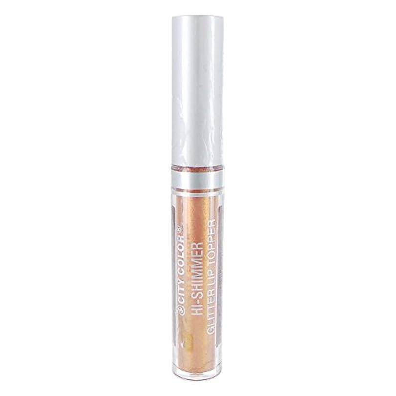 叫び声適用する省(3 Pack) CITY COLOR Hi-Shimmer Glitter Lip Topper - Rose Gold (並行輸入品)