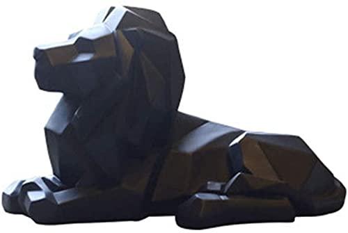 ZXYDD Adornos de estilo nórdico decoración del hogar regalos de resina adornos de león muebles de oficina 35,3 cm x 17,5 cm x 20,5 cm (color: negro)