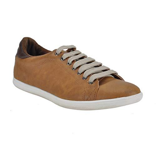 Franco Leone Tan Men's Casual Sneakers