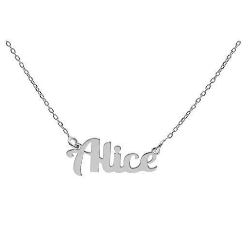 Collana In Argento Con Nome (A) (Alice)