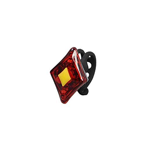 2 luces de seguridad de la parte posterior LED Frente trasero Luces de bicicleta brillante Compacto fácil de instalar luces de ciclismo para carreteras de montaña Noche Ciclismo USB Cargando - Rojo