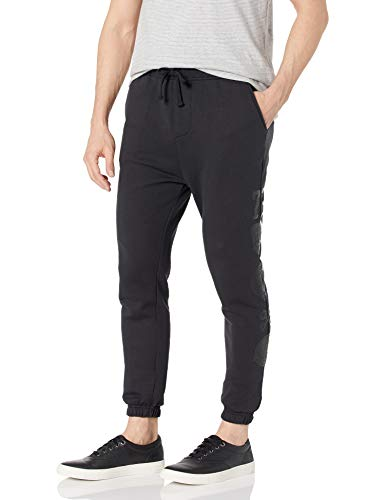Ecko Unltd. Men's Stacked Sweatpant, Black, Large