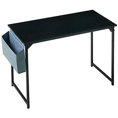 YMYNY 100cm Escritorio, Mesa de Ordenador, Mesa de Oficina, Mesa Multifuncional en la Oficina en Casa, Sala de Estar, Estudio, Estructura Metálica, Montaje Fácil, Negro