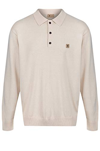 Photo of Gabicci Francesco Long Sleeve Polo Shirt | Oat XLarge