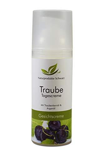 Naturprodukte Schwarz - Traube Tagescreme - Gesichtscreme mit BIO Traubenkernöl und BIO Arganöl, 50ml