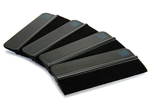 Rakel 4er Pack von KING KONG STATE ® - hochwertige Folien-Rakel mit Filzkante 10 x 4,5 cm