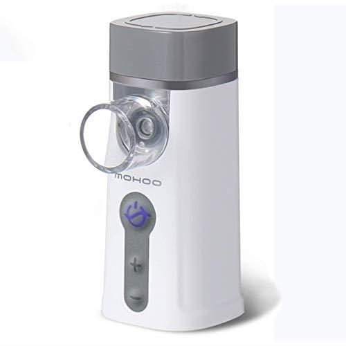 MOHOO Tragbar Vernebler chenhailtd set mit Maske und Mundstück Inhalator Vernebler Ultraschall USB-Kabel 2 Modes 5 Gang einstellbare Geschwindigkeit für Kinder Erwachsene und Atemwegserkrankungen