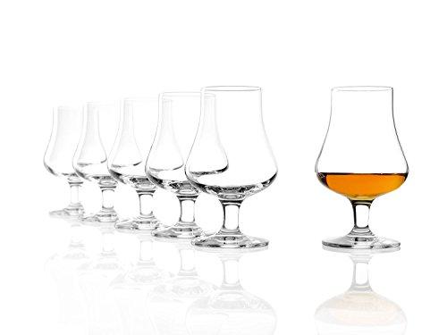Stölzle Lausitz Nosing Glas 194 ml I Whisky Gläser 6er Set I Bleifreies Kristallglas I Hochwertiges Scotch Glas I spülmaschinentauglich I Einzigartige Gläser für den besonderen Anlass