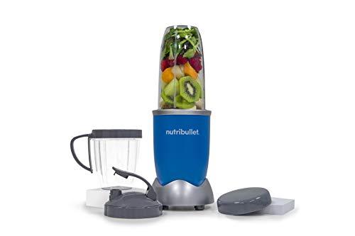 NutriBullet Pro 900 Watt - 9 teilig Extraktor set - 25.000 UpM - Nährstoff Extraktor Gesundheits Set - Smoothie Maker - EXKLUSIVE FARBE: Rainbow-series (Royal Blau)