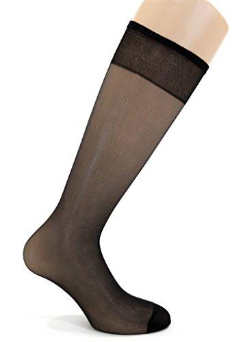 Pedsox Calcetín alto desechable (Negro)