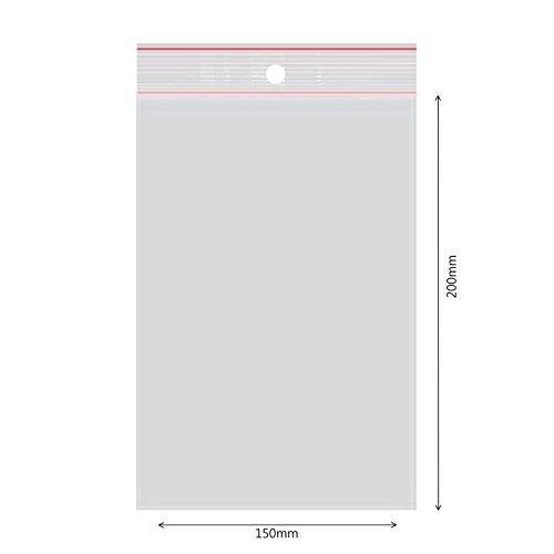 verpacking 100 Druckverschlussbeutel Polybeutel Zip-Beutel Verschiedene Größen 150 x 200mm