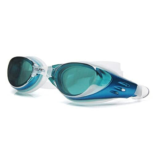 Peakfeng Niños Natación Gafas Summer Hombres Mujeres Electroplate Natación Gafas Impermeable Eyewear Silicona Anti Niebla Agua Buceo Piscina Vidrios (Color : Sky Blue, Size : One Size)