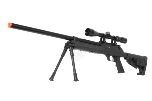wellfire aps sr-2 modular airsoft sniper rifle - scope & bipod - black(Airsoft Gun)
