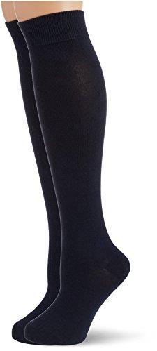 Hudson Only Doppelpack Calcetines Altos, 100 DEN, Blau (Marine 0335), 39/42 (Talla del Fabricante: 39/42) para Mujer
