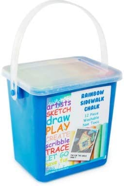 Small rainbow Inventory cleanup selling sale sidewalk Limited time for free shipping chalk 12-piece bucket