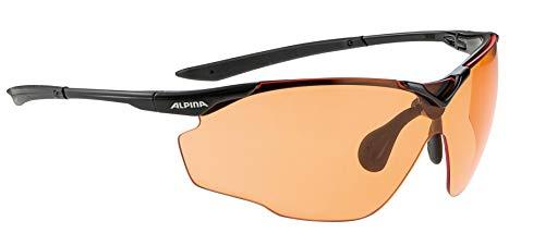 ALPINA Unisex - Erwachsene, SPLINTER SHIELD V Sportbrille, black, One Size