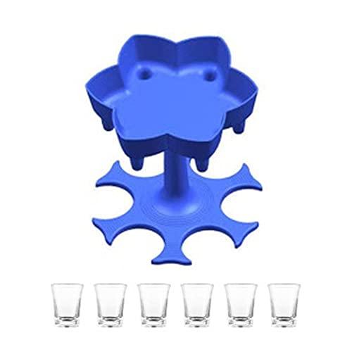 6 soportes para dispensadores de vasos de chupito para vino, cerveza, licor, bebida, estante para chupar, fiesta, bebida, juegos para beber, barra, herramienta de llenado, ESPAÑA, 06