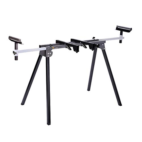 Light Weight Universal Miter Saw Stand 330 Lbs Load Capacity Black and Grey WK-MS050B Single Pack