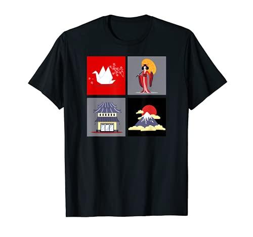 JAPÓN TIERRA DE SAKURA, TEMPLO, MT FUJI, GEISHA Camiseta
