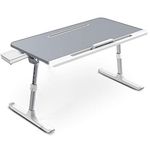 Inklapbare notebookstandaard, eettafel voor bed, laptoponderlegger voor bed, in hoogte verstelbaar, voor lezen of ontbijt