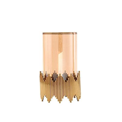 Kandelaars Houder Nordic Klassieke Metalen Kandelaar Luxe Glazen Tafel Kandelaar Bruiloft Romantisch Huis Ornamenten Decoratie Kandelaars (Maat: 14.5 14.5 24Cm)