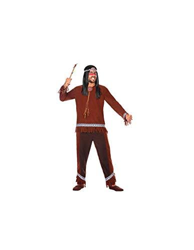DISBACANAL Disfraz de Indio marrn para Hombre - -, XL