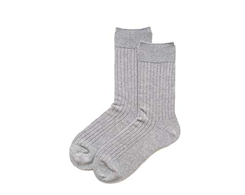 B/H Chaussettes de Basket,Respirantes en Coton Chaussettes,Vertical Striped Tube Socks Basic Cotton Socks-Light Grey_2