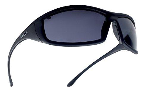 Bollé SOLIPSF - Gafas de seguridad (cristal ahumado, talla única), color negro