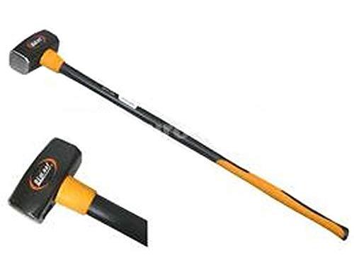 Abbruchhammer 4000 g XL Hammer 4 Kg Vorschlaghammer Lang Fiberglas DIN 1042 Sturmhammer Antivibrationsgriff aus Elastomer für sicheren Halt