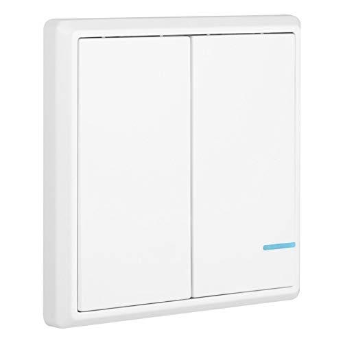 Interruptor inalámbrico - Interruptor remoto inalámbrico de RF (Canal/Interruptor de canal doble/doble) - Kit de interruptor de control de lámparas(2 channels)