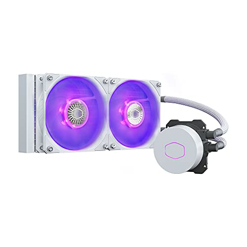 Cooler Master MasterLiquid ML240L V2 RGB White Edition, Raffreddatore per CPU a liquido