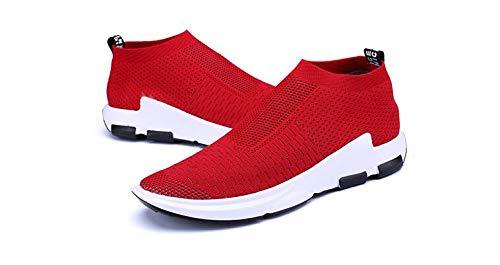 LLZGPZYDX sportschoenen Air Mesh sneaker heren ademende schoenen mannen casual mannen mode verliefde zonder veters grote maat 39-46 Ra-49