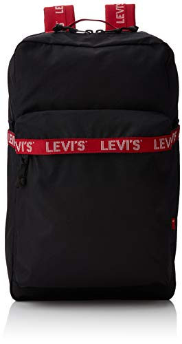 LEVIS FOOTWEAR AND ACCESSORIES homme The Levi's L Pack Twill Tape Sac a dos Noir (Noir), 29x12x49 cm (W x H x L)