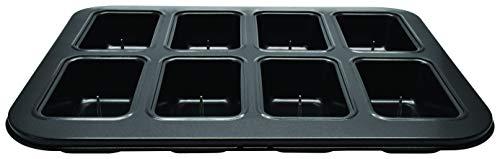 Zenker 687205 Moule rectangulaire, Plaque 8 Mini Cakes avec goupille