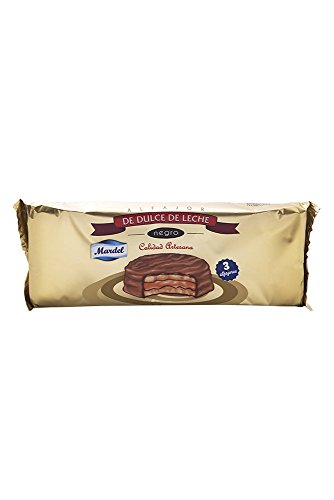 3 x Chocolate Alfajores Mardel (dulce de leche sándwiches para galletas)